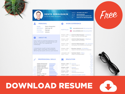 free-resume-template-download-psd