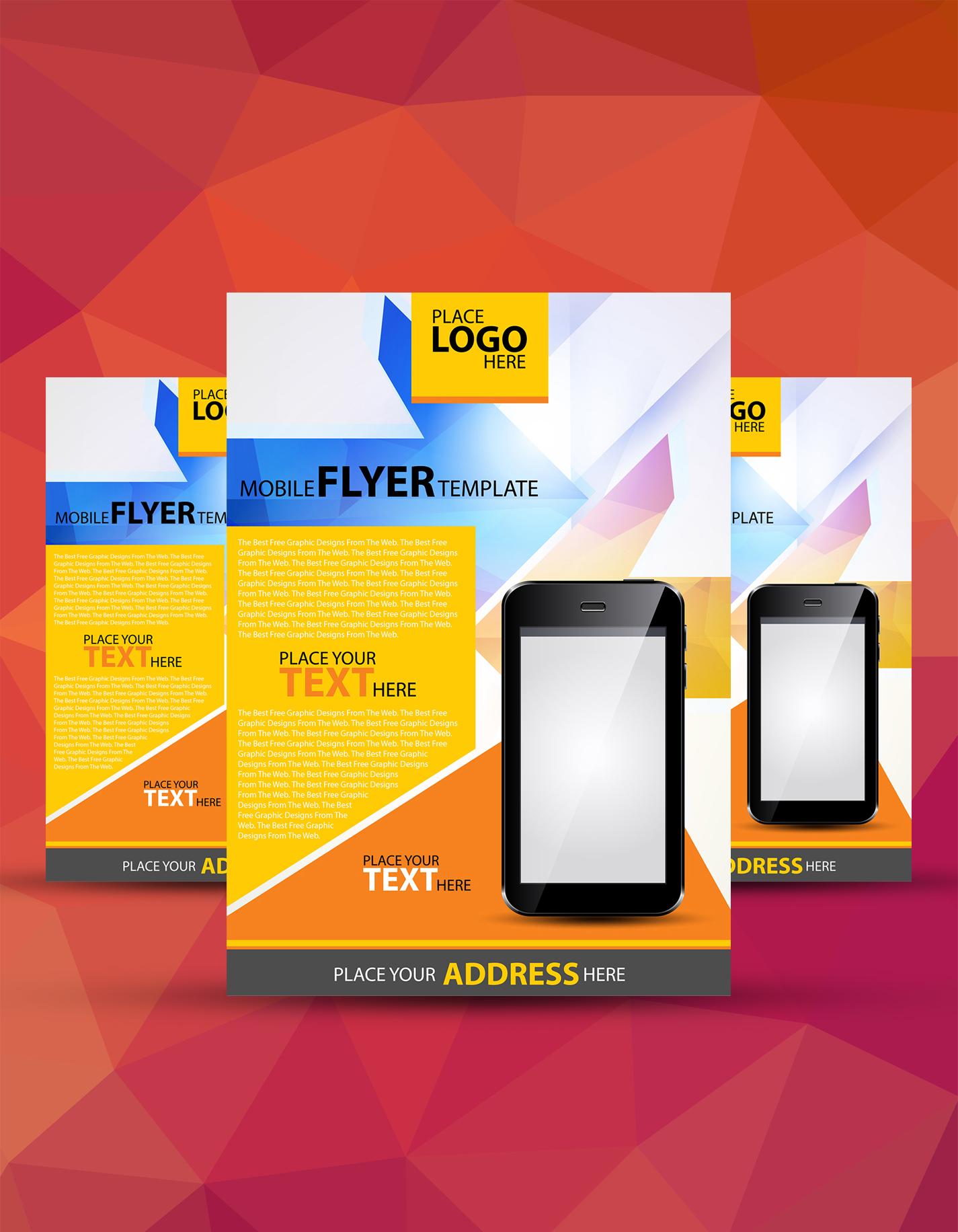 flyers templates designs for graphic designers a4 mobile flyer template