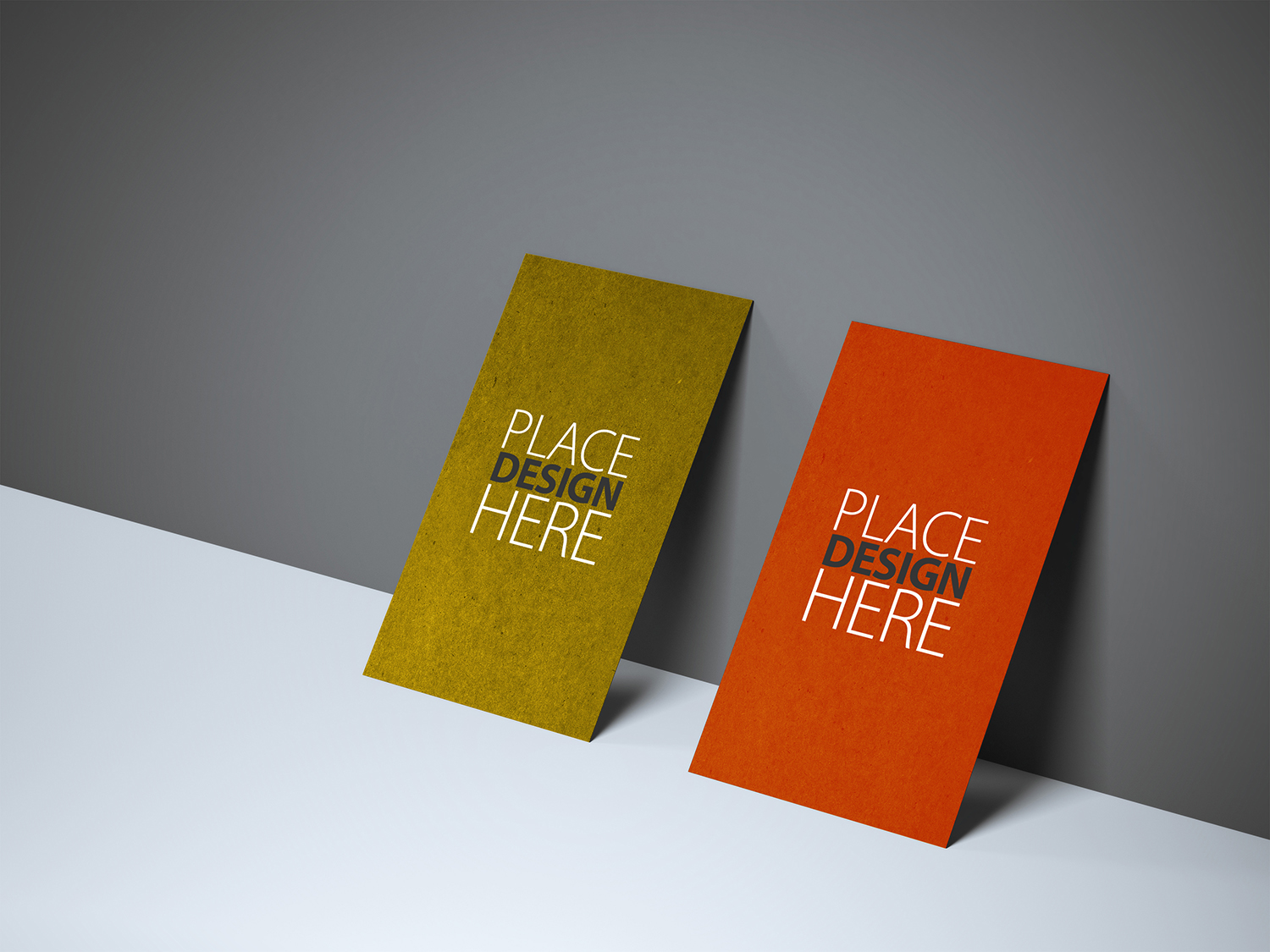 Free Textured Front Back Business Card Mockup