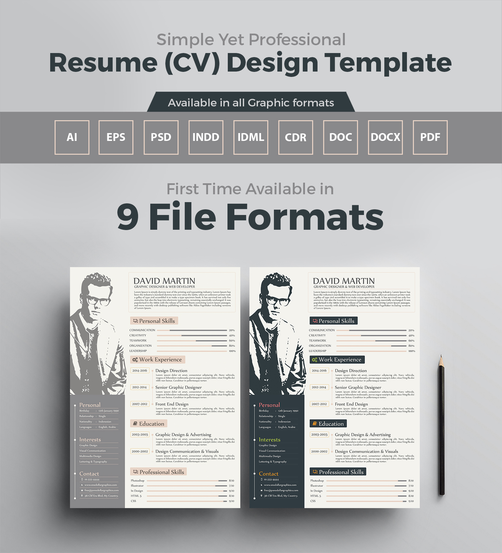 resume template for graphic designers web developers in - Resume Templates For Graphic Designers