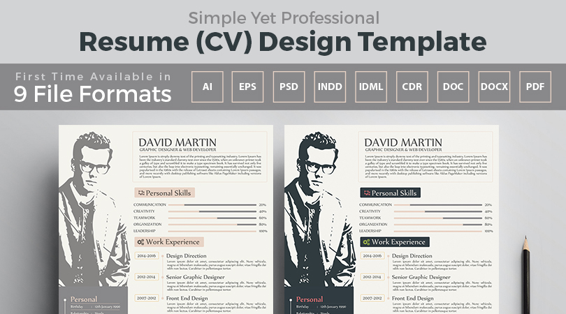 resume template for graphic designers web developers in