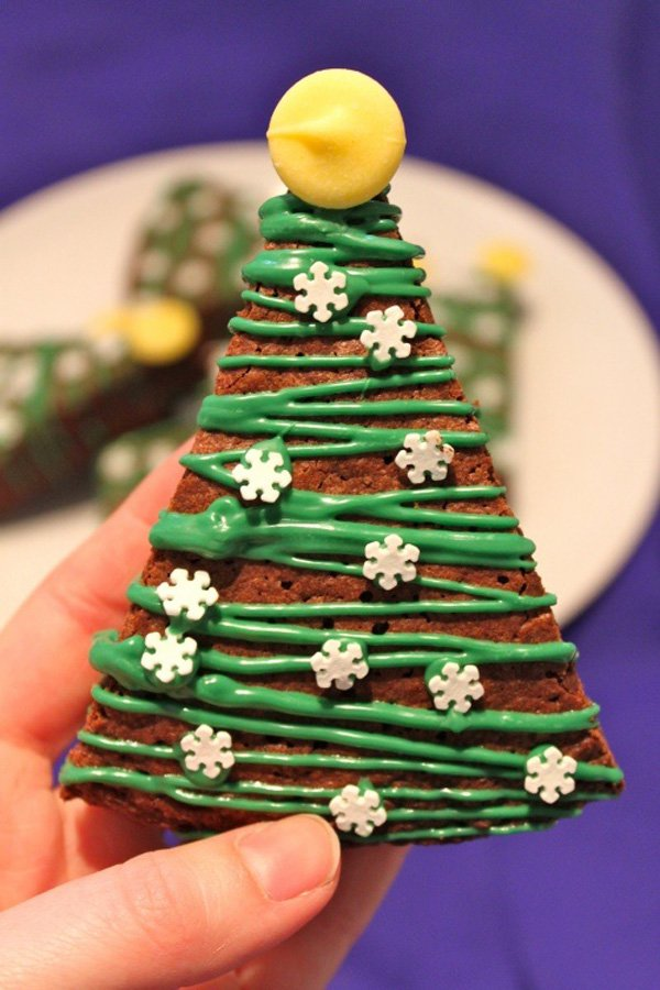 christmas-tree-brownies-food