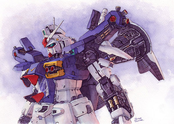 gundam-watercolor-illustration