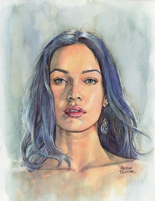 megan-fox-portrait-illustration