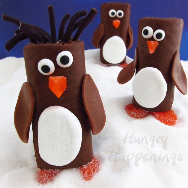 penguin-snack-cake-chocolate-little-debbie-swiss-roll-penguins-hostess-ho-ho-penguins-christmas-edible-craft-food