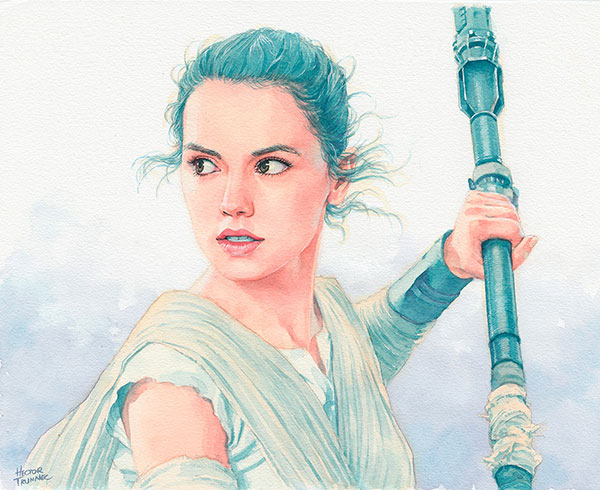 rey-star-wars-watercolor-illustration