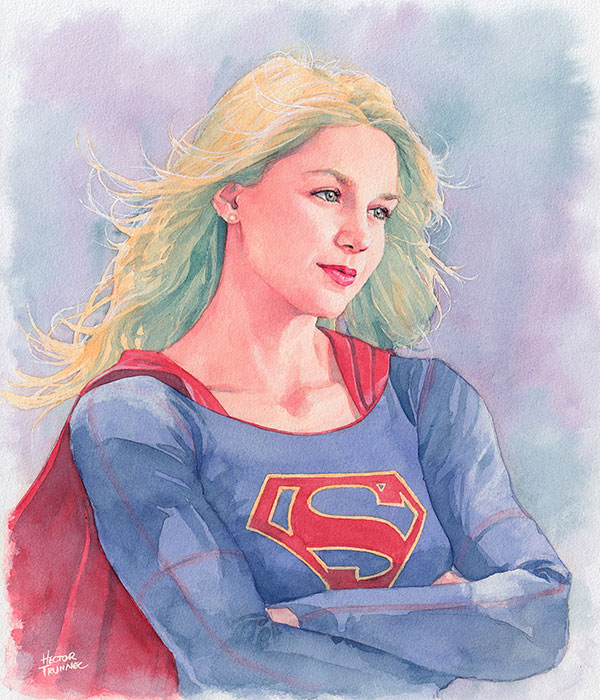 supergirl-watercolor-illustration