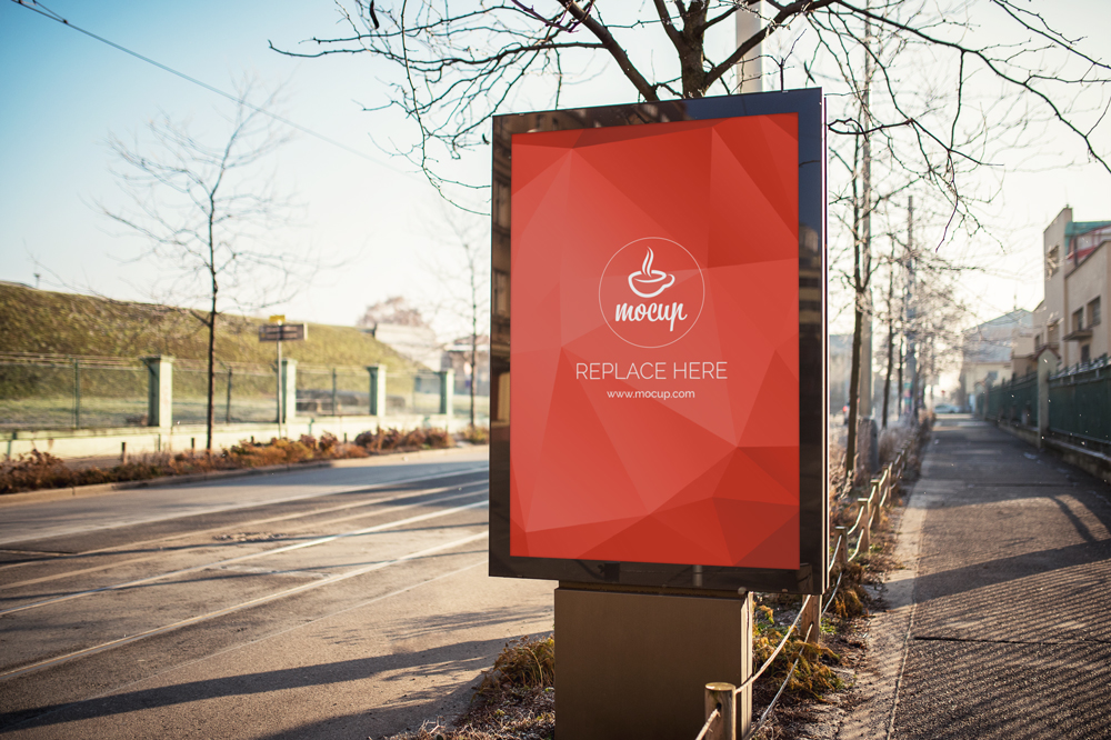 free outdoor advertising billboard mock