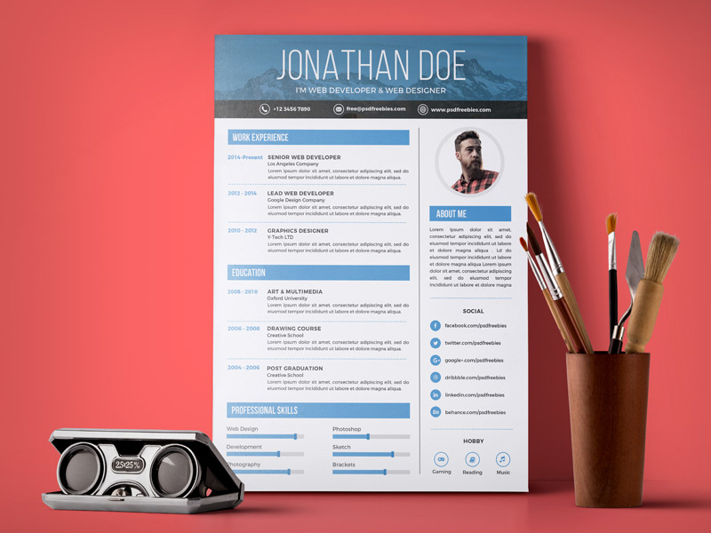 10 free simple  u0026 clean resume