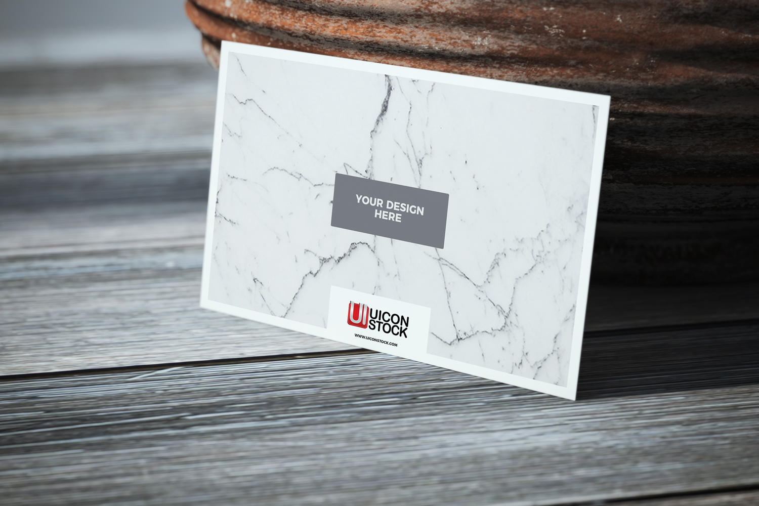 Free Texture Paper Business Card on Wooden Table Mockup - A Graphic ...