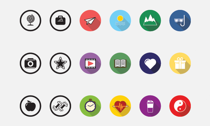 18-Free-Flat-Icons-With-3-Categories