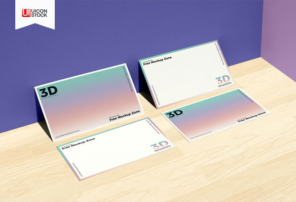 Free-Business-Card-on-Wooden-Floor-Mockup-For-Branding-2018