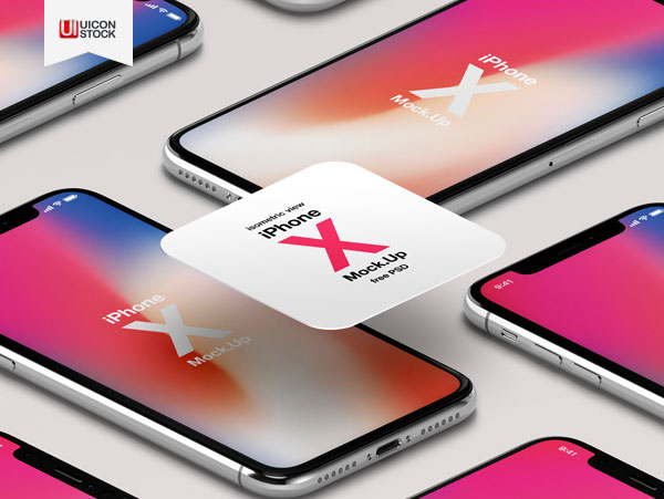 Free-iPhone-X-Psd-Mockup-Isometric-2018