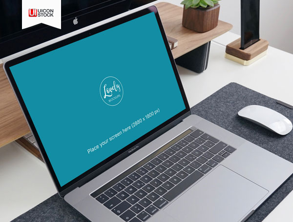 Free-Macbook-Pro-with-Office-PSD-Mockup-2018