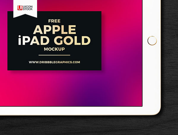 Free-PSD-Apple-iPad-Gold-Mockup-2018