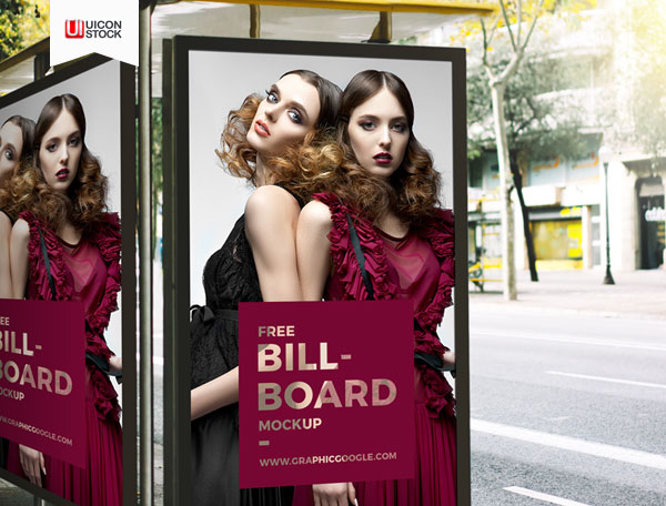 Free-PSD-Outdoor-Bus-Stop-Billboard-Mockup-2018
