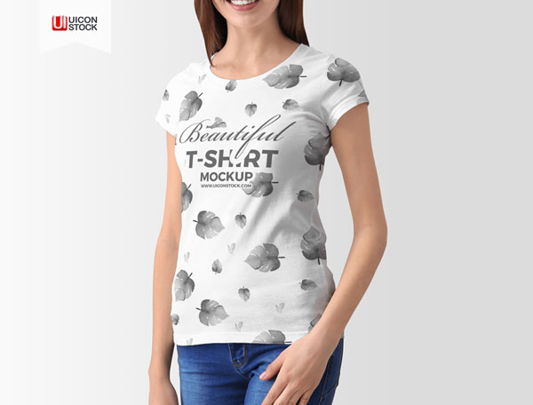 Free-PSD-Stylish-Young-Woman-T-Shirt-Mockup-Of-2018