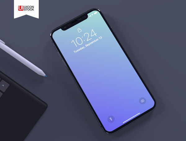 Free-Top-View-iPhone-X-Mockup-PSD-2018