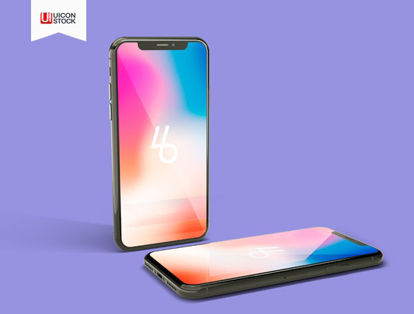 Free-iPhone-X-PSD-Mockup-With-Two-Perspective-2018