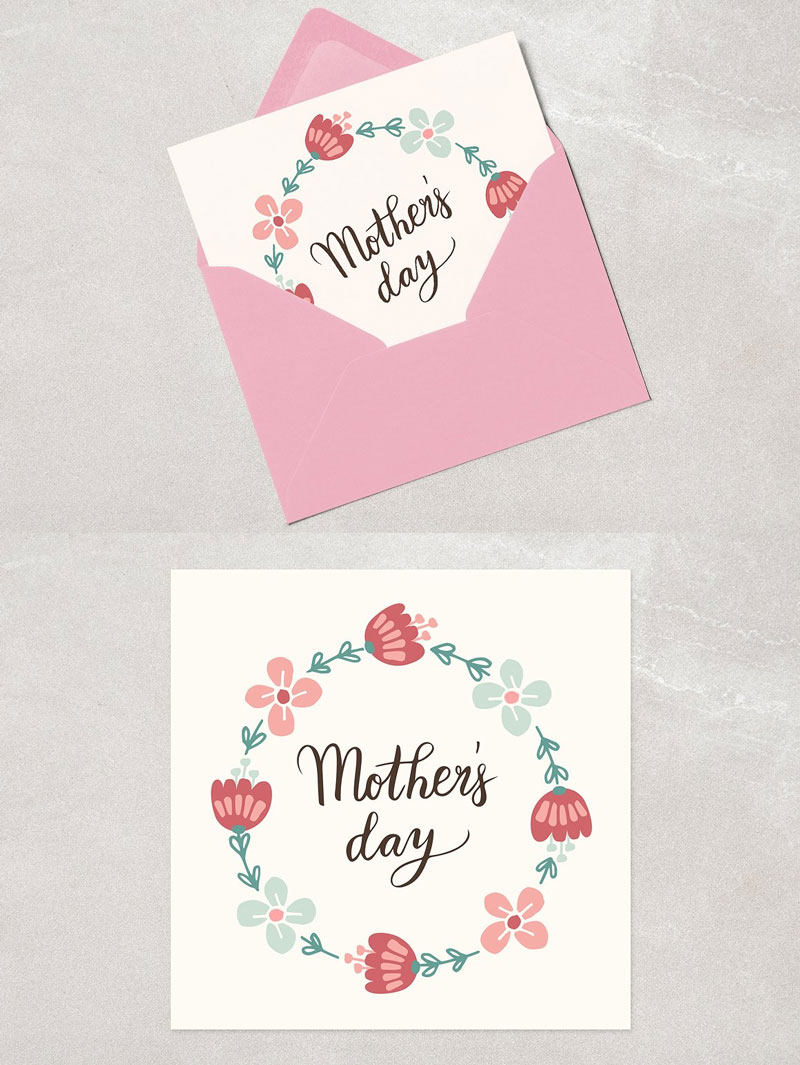 Floral-Wreath-&-Hand-Lettered-Mothers-Day-Card
