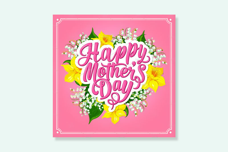 Mother-Day-Greeting-Card-With-Spring-Flower-Heart