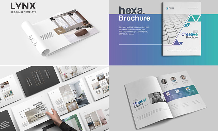 10 creative brochure design templates for creative artists 2018