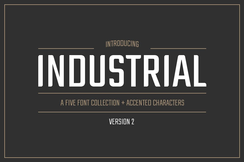 Industrial-Font-Collection-2018