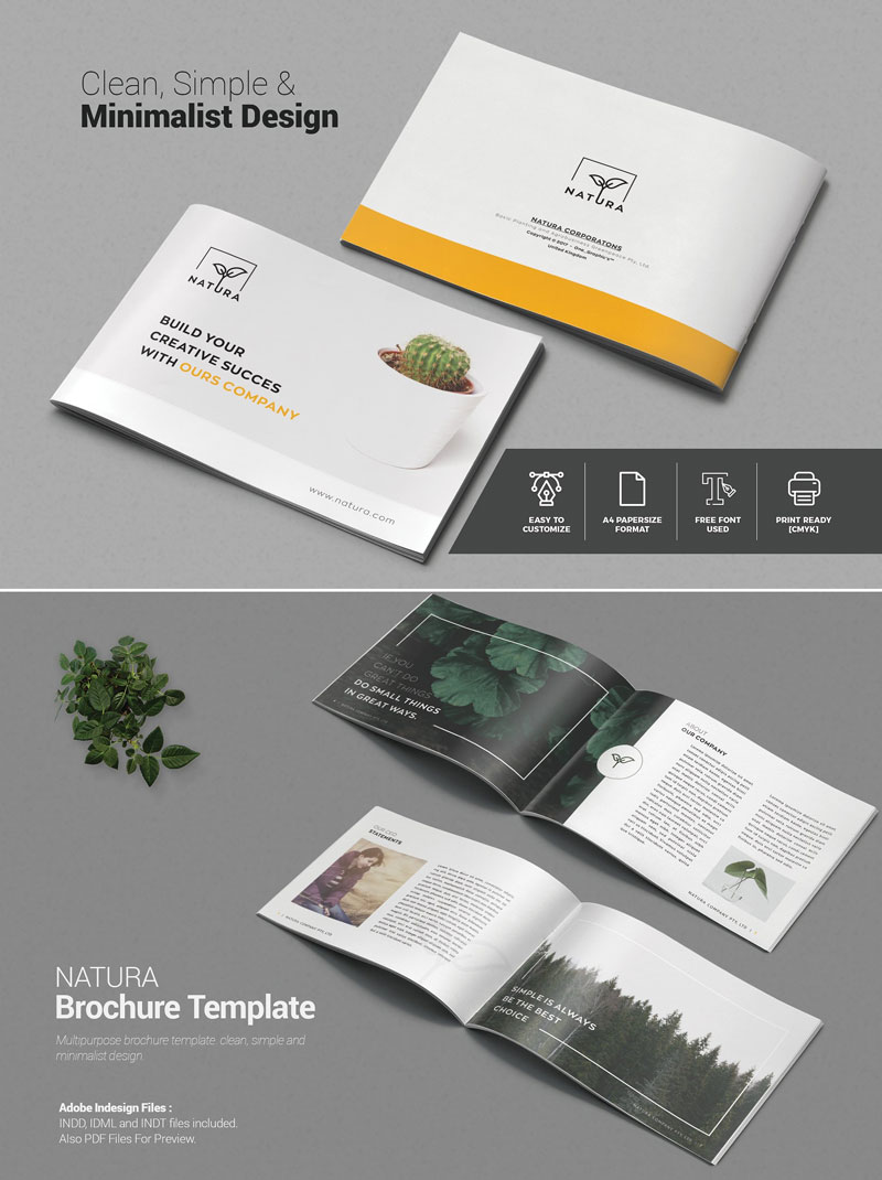 10 creative brochure design templates for creative artists for Creative brochure template