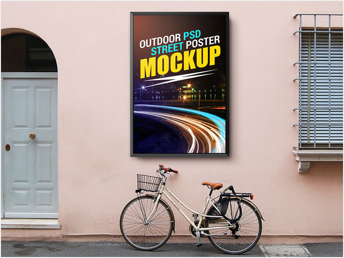 Free-Outdoor-Street-Poster-Mockup