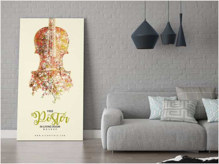 Free-Poster-in-Living-Room-Mockup