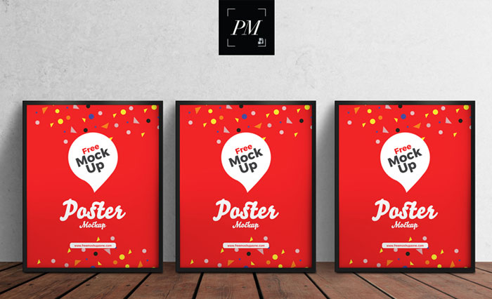3-PSD-Posters-on-Wooden-Floor-Mockup