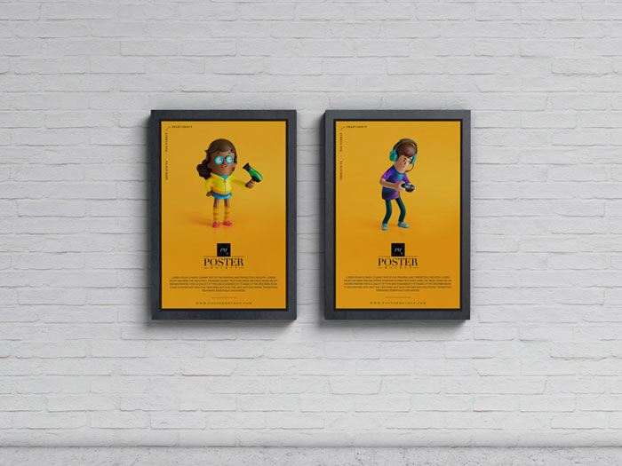 Advertisement-Display-Posters-Mockup-PSD