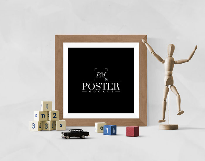 Artistic-Interior-With-Creative-Antique-Square-Poster-Frame-Mockup-PSD