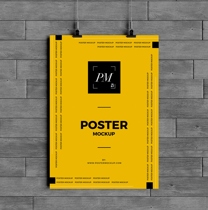 Hanging-Over-Wall-Poster-Mockup-PSD