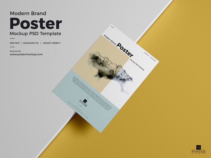 Modern-Brand-Textured-Paper-Poster-Mockup