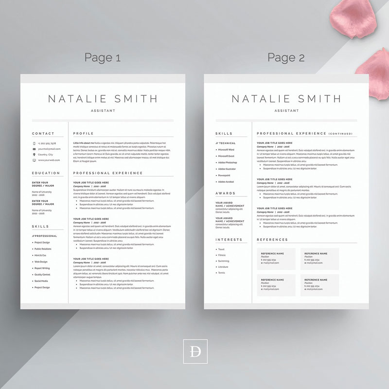 Word-Resume-&-Cover-Letter-Template