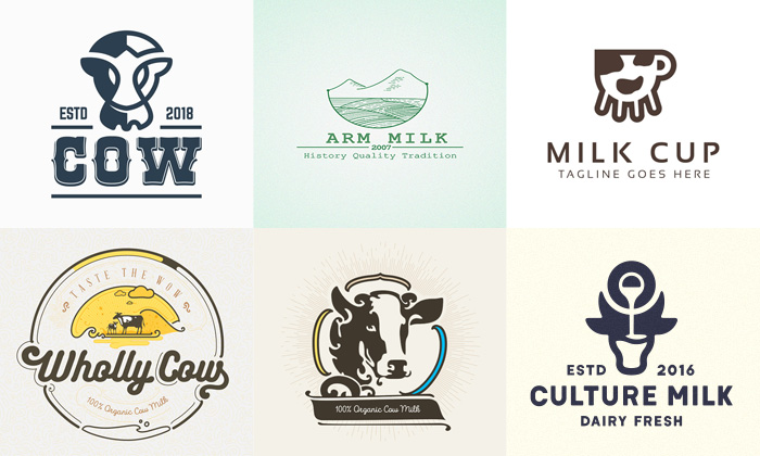 30 creative dairy logo designs for inspiration 2019