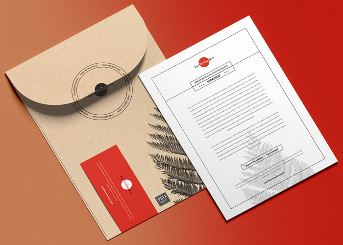 Free-Envelope-With-Invitation-Mockup