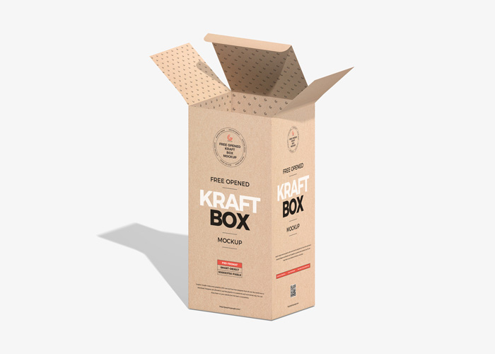 Free-Packaging-Kraft-Box-Mockup