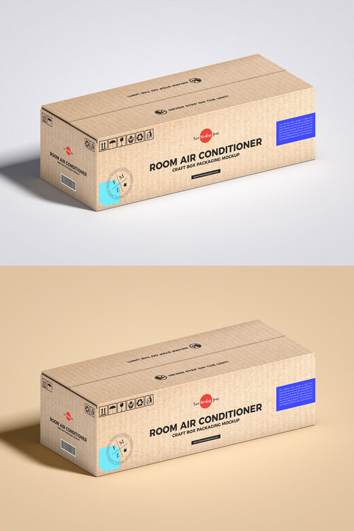 Free-PSD-Air-Conditioner-Craft-Box-Packaging-Mockup