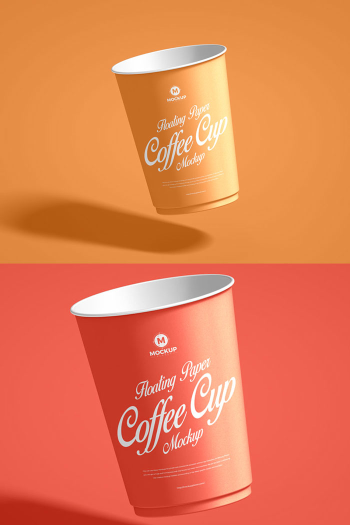 Free-PSD-Floating-Paper-Coffee-Cup-Mockup