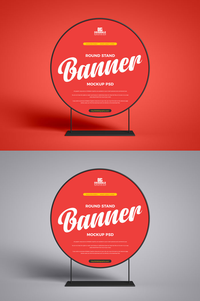 Free-PSD-Round-Stand-Banner-Mockup