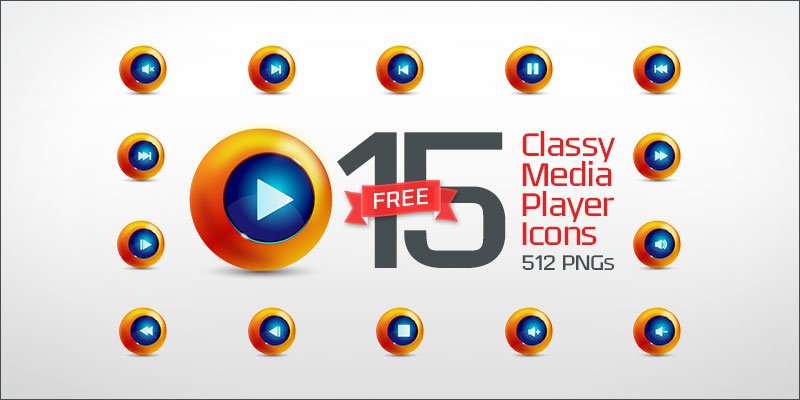 15-Classy-Media-Player-Icons