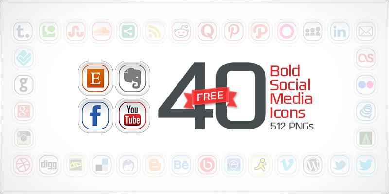 40-bold-social-media-icons