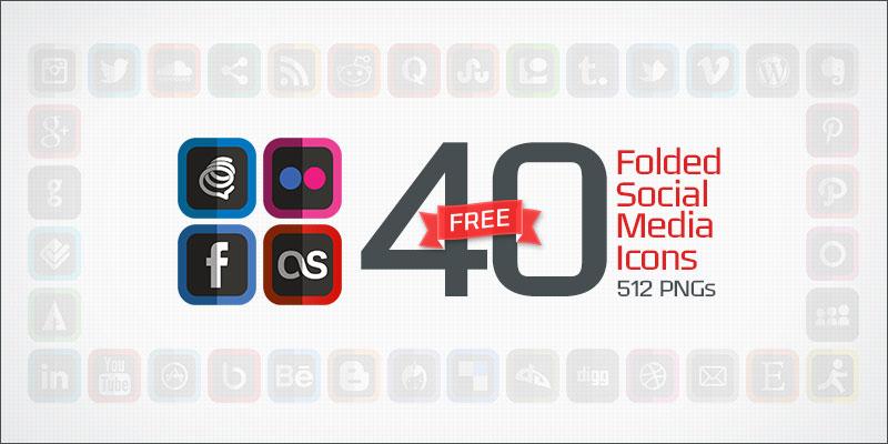 40-folded-social-media-icons