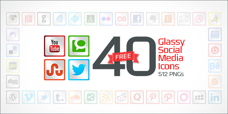 40-glassy-social-media-icons