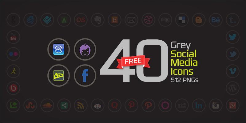 40-grey-social-media-icons