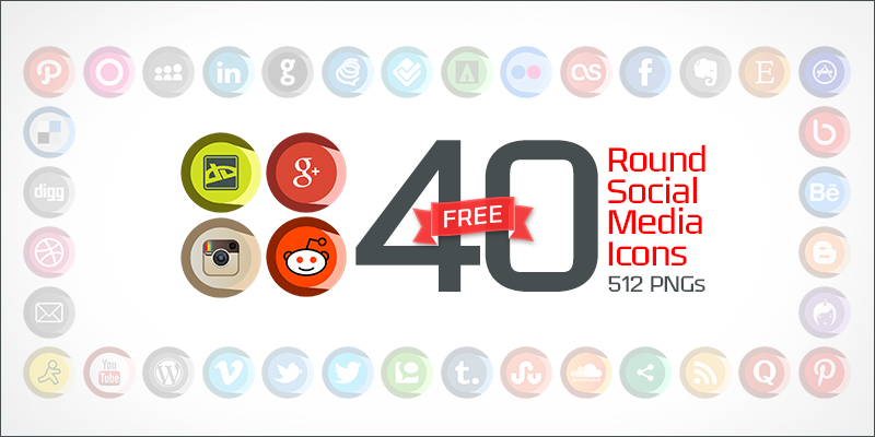 40-round-social-media-icons