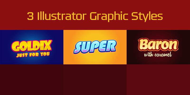 free 3 illustrator graphic styles (ai)