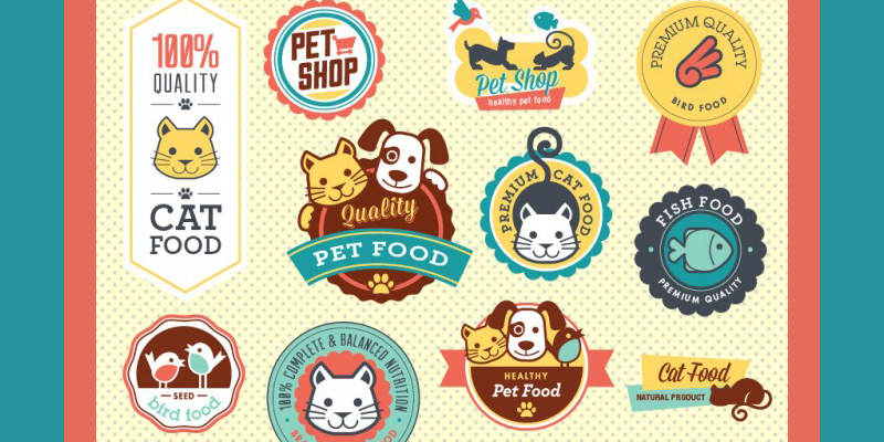 petshop vector badges  free download  2014